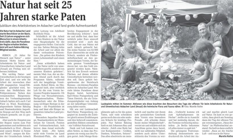 Rhein-Zeitung 29.6.2009