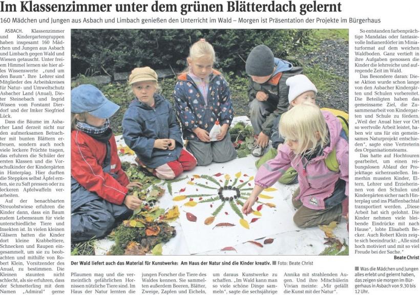 Rhein-Zeitung 7.10.2009