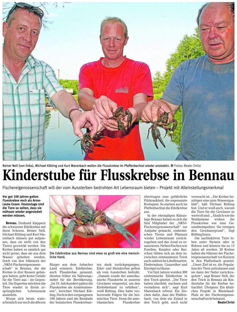 Rhein-Zeitung 13.07.2010