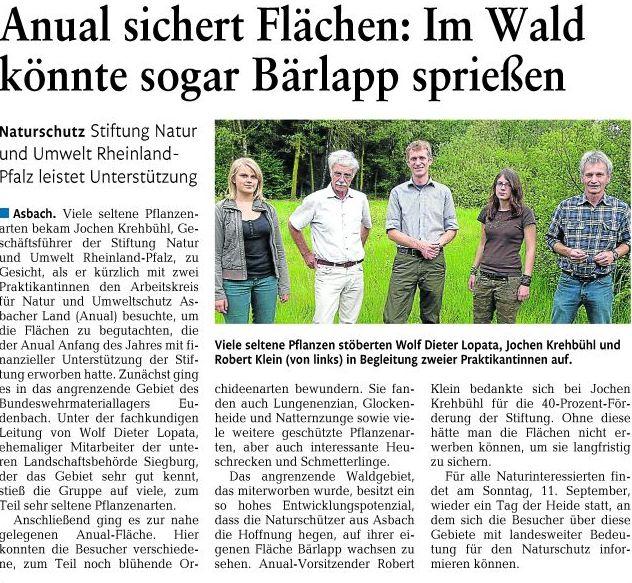 Rhein-Zeitung 21.7.2011