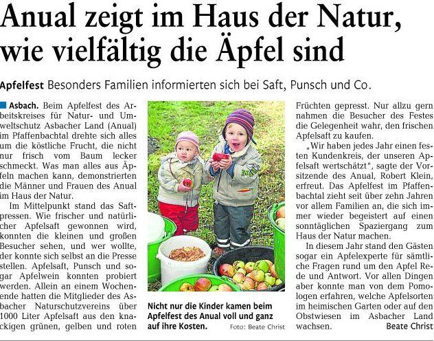 Rhein-Zeitung 11.10.2011