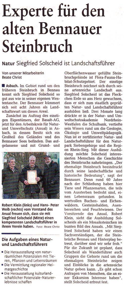 Rhein-Zeitung 30.12.2011