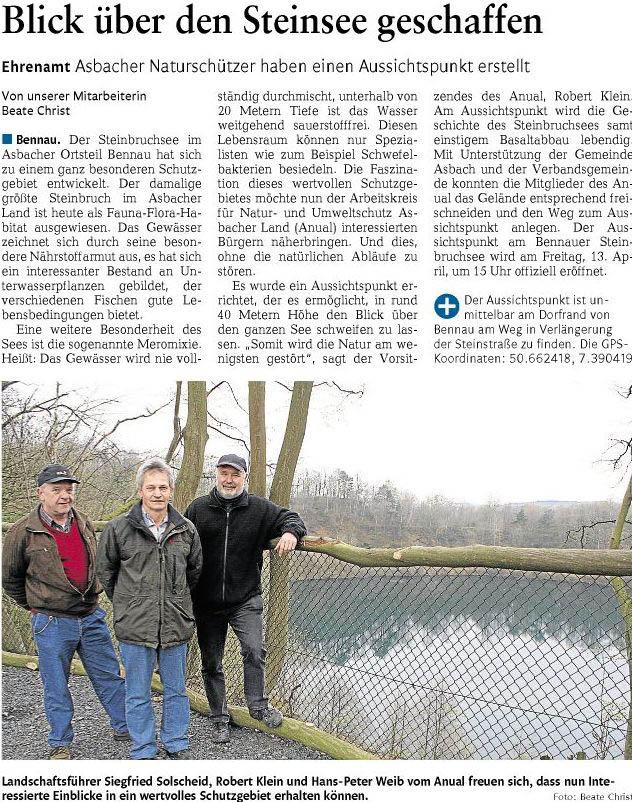 Rhein-Zeitung 12.04.2012