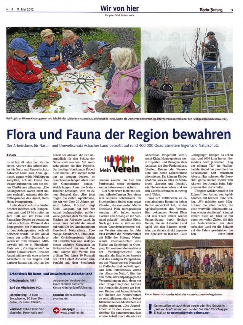 Rhein-Zeitung 11.05.2012