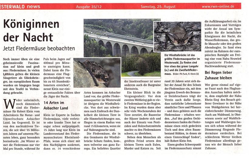 Westerwald-News 25.08.2012