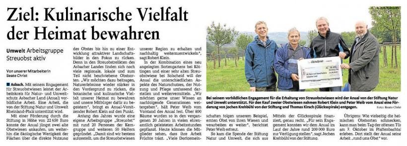 Rhein-Zeitung 15.09.2012