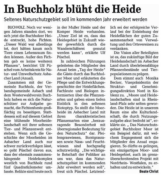 Rhein-Zeitung 5.9.2006
