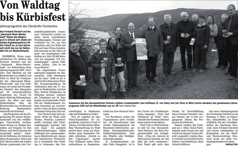 Rhein-Zeitung 22.1.2007