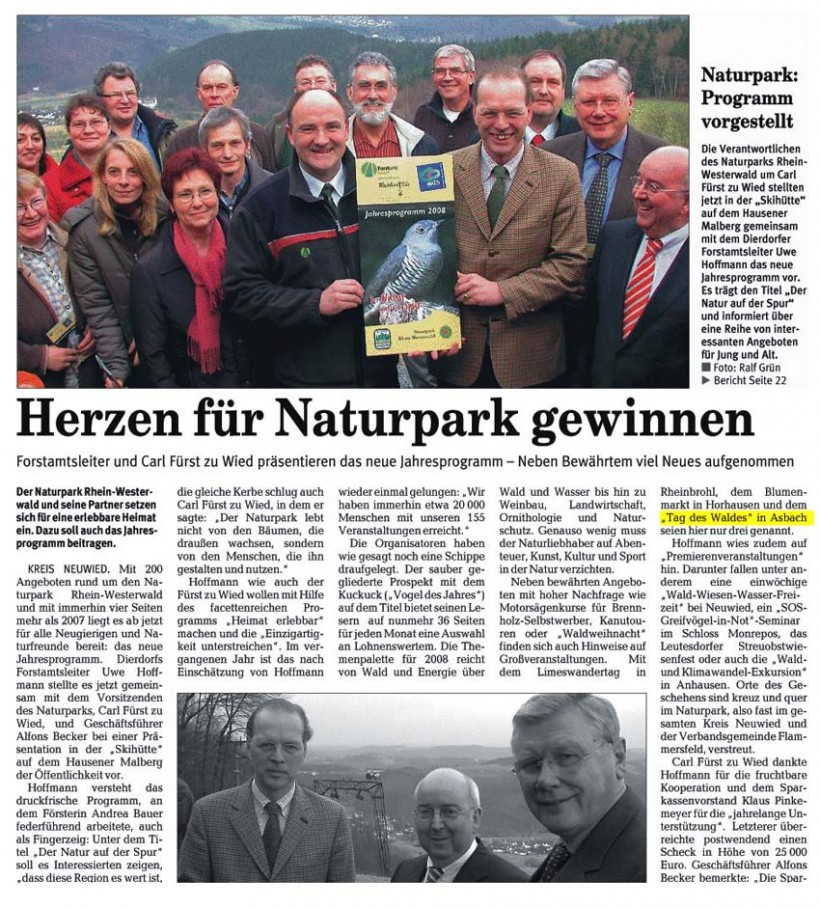 Rhein-Zeitung 2.2.2008