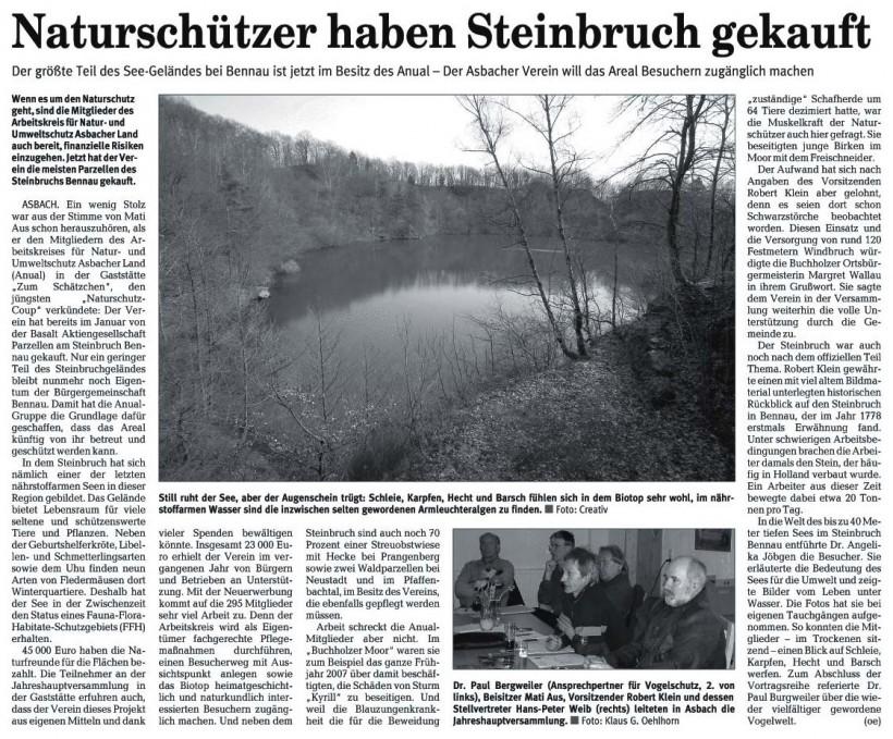 Rhein-Zeitung 17.3.2008