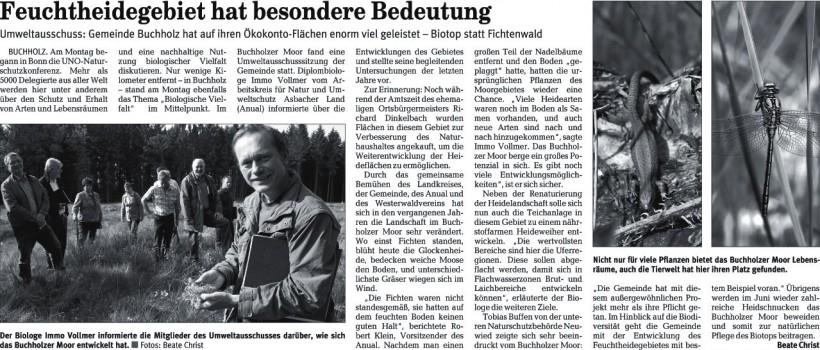 Rhein-Zeitung 21.5.2008