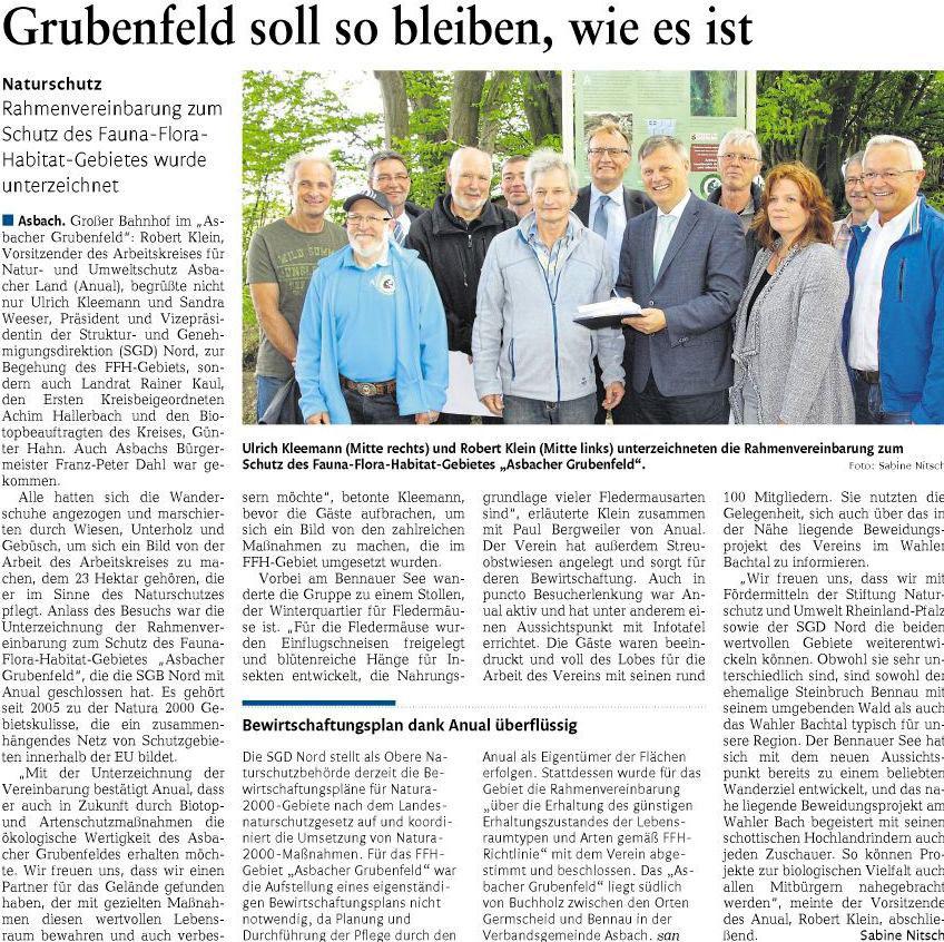 Rhein-Zeitung vom 13.5.2017