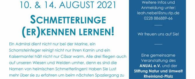 Einladung-Schmetterlingsexkursion 14.08.2021