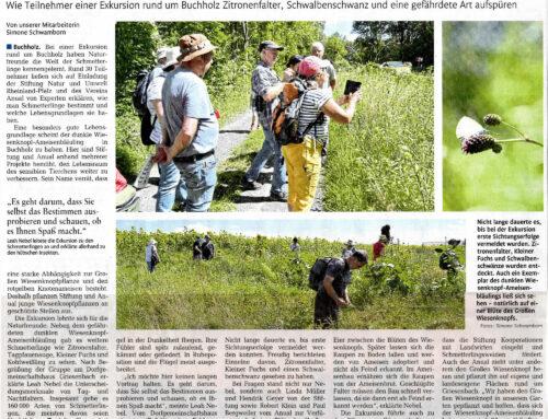Rhein-Zeitung 17.8.2021 – Immer den Schmetterlingen nach